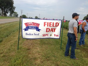 Big Yield Goes to Boden Seed Field Day
