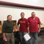Soybean Scientist Dr. Andrew Scaboo with Bill and Steve